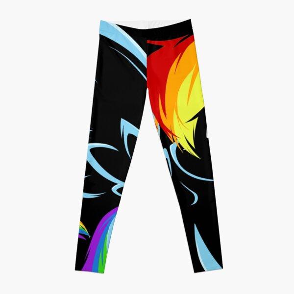 Rainbow Dash Black Leggings