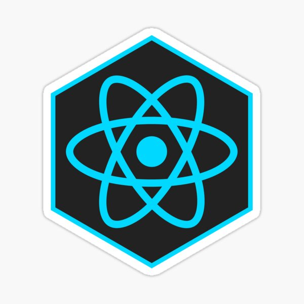 React hexagon Sticker