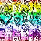 Rainbow Scene Kid Sketches by Roseanne Jones