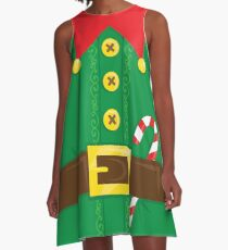 Xmas Elf Belly A-Line Dress