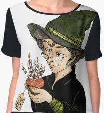 McGonagall's Birthday in Colour Chiffon Top