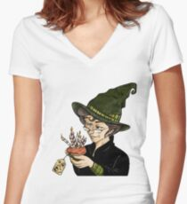 McGonagall's Birthday in Colour Women's Fitted V-Neck T-Shirt