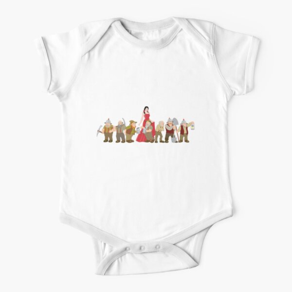 Snow White and the Seven Dwarfs Short Sleeve Baby One-Piece