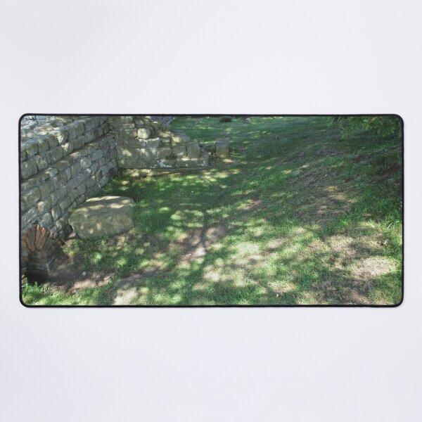 M.I. #116 |☼| Speckle Shadows (Hadrian's Wall) Desk Mat