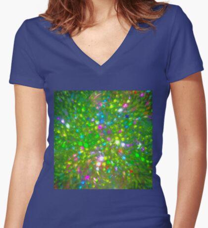 Summer #fractal art Fitted V-Neck T-Shirt