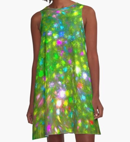 Summer #fractal art A-Line Dress