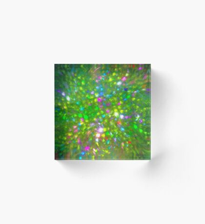 Summer #fractal art Acrylic Block