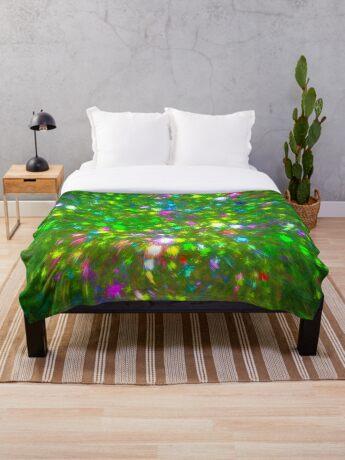 Summer #fractal art Throw Blanket