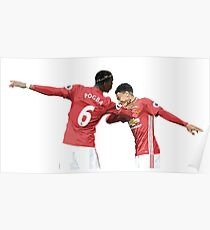 Pogba Lingard - Manchester United - Dab Poster