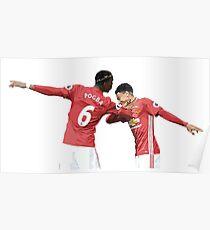 Lingard Pogba - Manchester United - Dab Poster