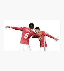 Pogba Lingard - Manchester United - Dab Photographic Print