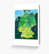 Map Germany Greeting Card