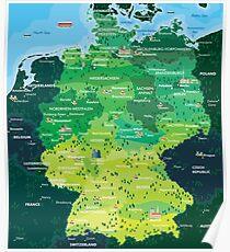 Karte Deutschland Poster