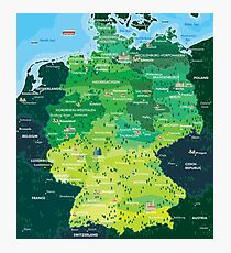 Map Germany Photographic Print