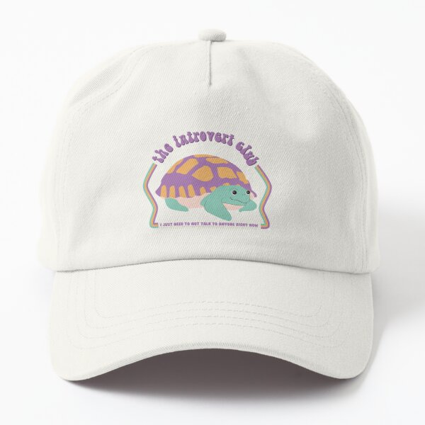 the introvert club turtle Dad Hat