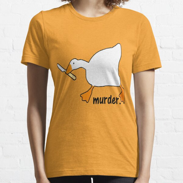 duck with knife,Knife Goose,Chicken With Knife,duck meme,thanks meme,usa redbubble ,redbubble com,redbubble canada Essential T-Shirt