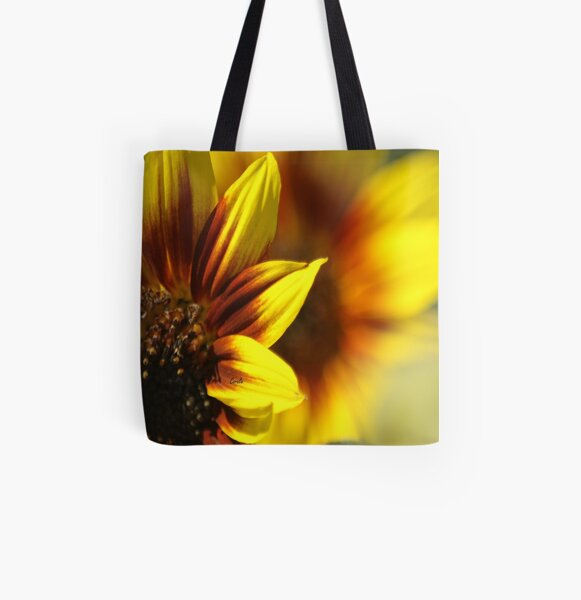 Colors of The Sunflower All Over Print Tote Bag
