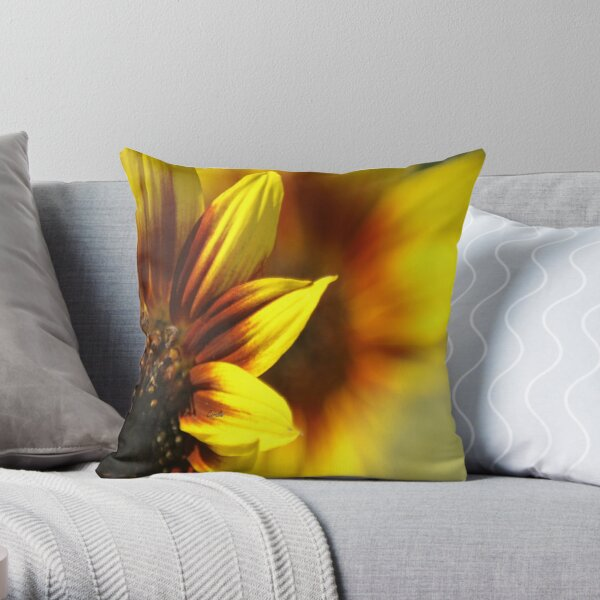 Colors of The Sunflower Throw Pillow