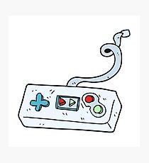 cartoon game controller Photographic Print