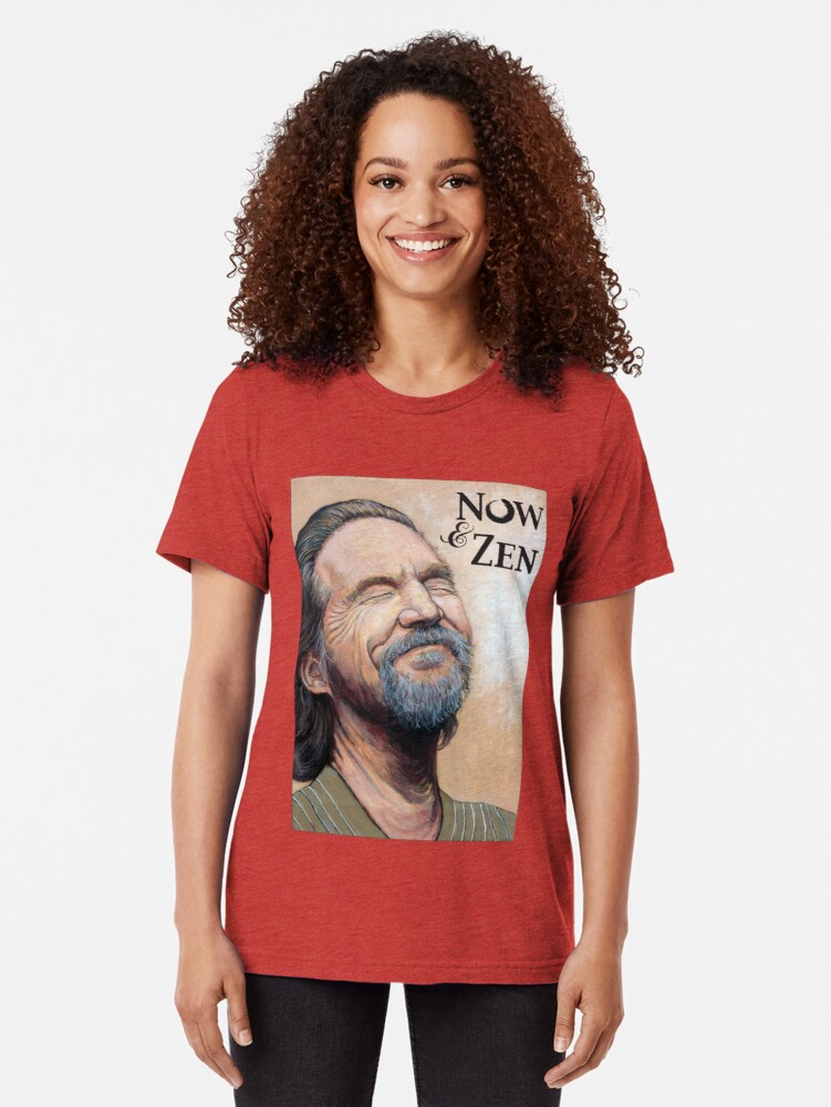 Alternate view of The Dude Now & Zen Tri-blend T-Shirt