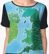 Map of Great Britain and Ireland Women's Chiffon Top