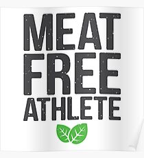 Meat free athlete Poster