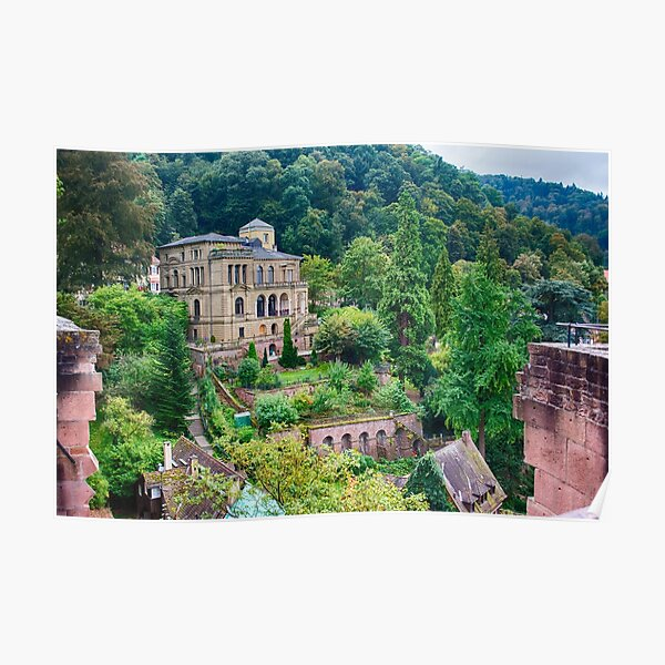 A View from Heidelberg Castle Poster