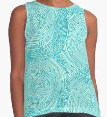 Turquoise spirals  Sleeveless Top
