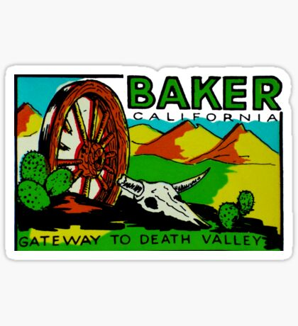 Baker California Death Valley Vintage Travel Decal Sticker