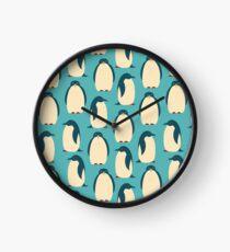 Happy penguins Clock