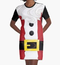 Xmas santa Belly Graphic T-Shirt Dress
