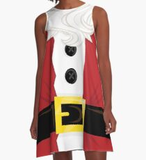 Xmas santa Belly A-Line Dress