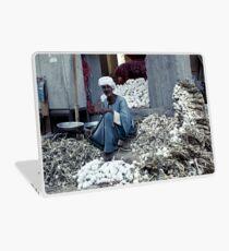 Garlic seller - Luxor, Egypt Laptop Skin