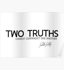 two truths - galileo galilei Poster