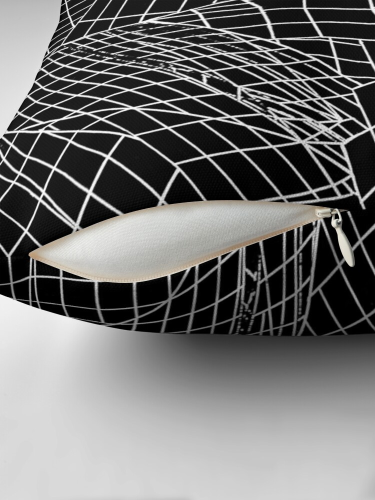 Alternate view of Angles- Black Throw Pillow