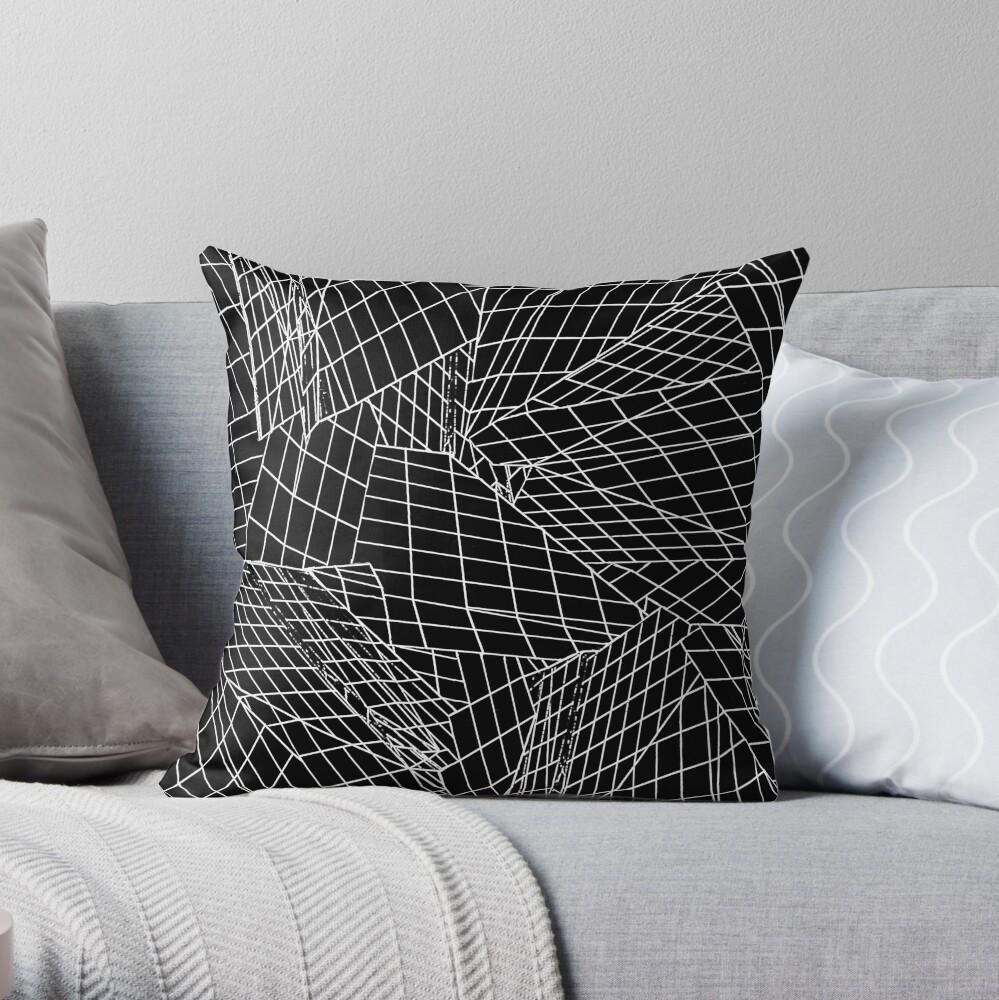 Angles- Black Throw Pillow