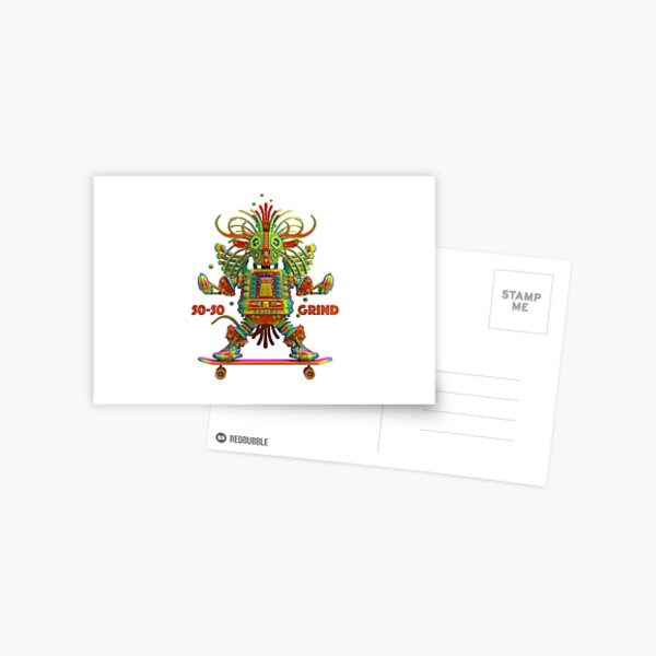 50-50 Grind Design 2 Postcard