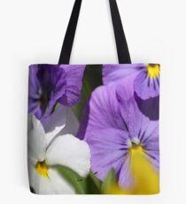 Pansy Flower Blooms Tote Bag