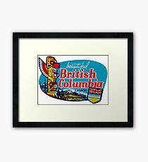Beautiful British Columbia BC Vintage Travel Decal Framed Print