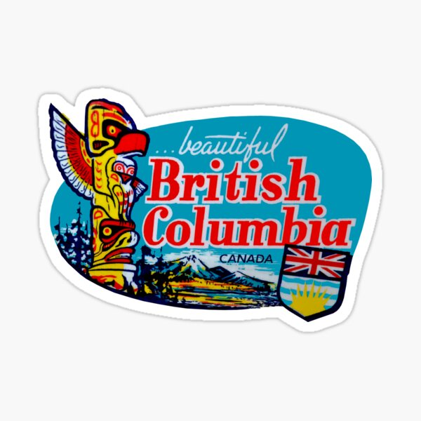 Beautiful British Columbia BC Vintage Travel Decal Sticker