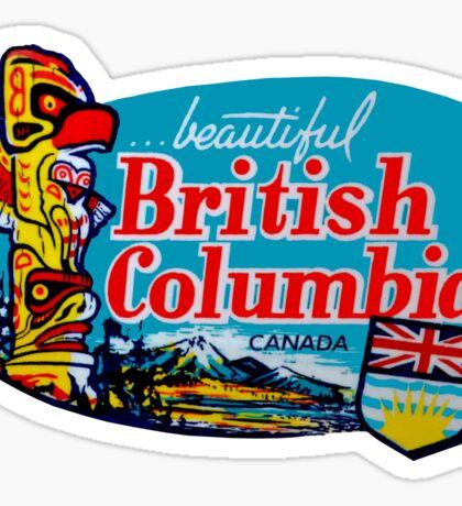 Beautiful British Columbia BC Vintage Travel Decal Sticker