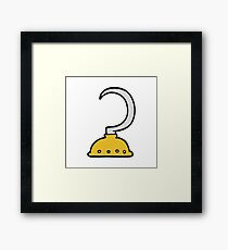 cartoon pirate hook Framed Print