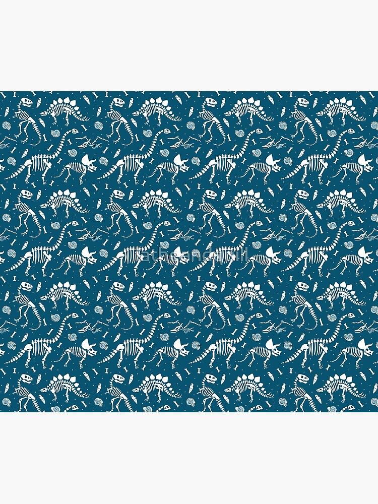 Dinosaur Fossils in Blue by latheandquill
