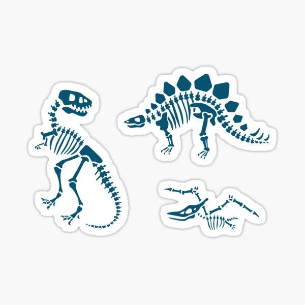 Dinosaur Fossils in Blue Sticker
