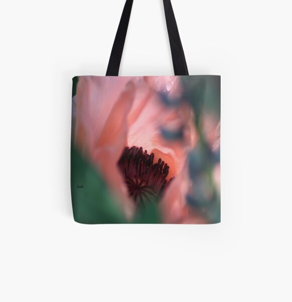 Beauty Of The Poppy Flower Bloom All Over Print Tote Bag