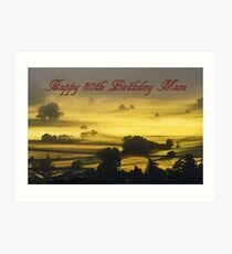 Glückliche 80. Geburtstags-Mamma Kunstdruck