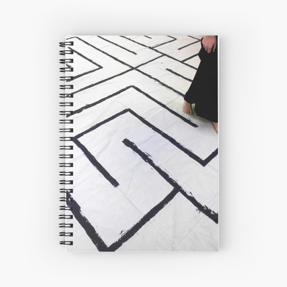 Walking the Labyrinth Spiral Notebook