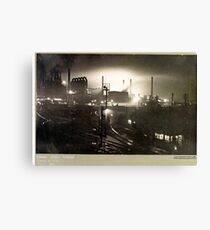 Corby Steelworks by Night, c1955 Canvas Print