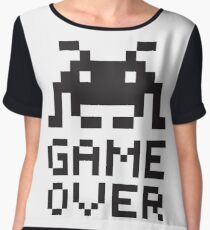 Game over / Pixel art invader Chiffon Top