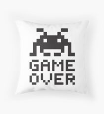 Game over / Pixel art invader Throw Pillow